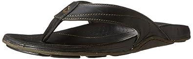 Olukai Kumu Sandal - Men's Black/Black, 8.0