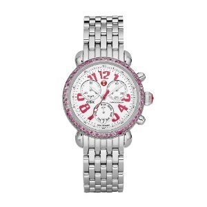 NEW Michele Women's MWW03M000161 Signature CSX-36 Carousel Ladies Pink Sapphire on Bracelet Swiss Movement 36mm Limited Edition