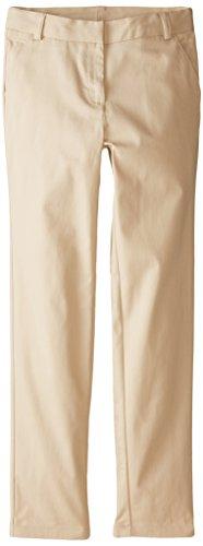 Nautica Big Girls' Stretch Twill Skinny Pant, Khaki, 14