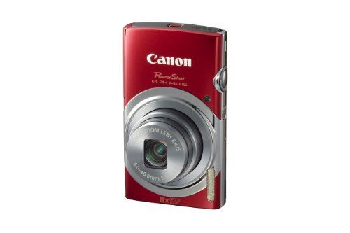 Canon Powershot Elph140 Is Digital Camera (Red)