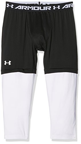 Under Armour pantaloni da basket SC303/4Leggings, Uomo, Basketball Hose Sc30 3/4 Leggings, nero, XL