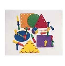Lauri MULTI-ACTIVITY SHAPES 6 Shapes, 1 Game Die, 20 Pegs & 6 Laces