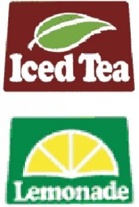 Lemonade And Iced Tea Labels For Beverage Dispensers