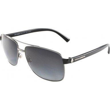 Dolce & Gabbana DG2131 Sunglasses-079/T3 Gunmetal (Polar Gray Grad Lens)-57mm
