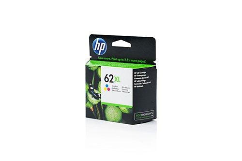 C2P07AE 62XL encre hP original - 1 cartouche cyan, magenta, jaune - 415 pages-compatible imprimantes officeJet 8000 series