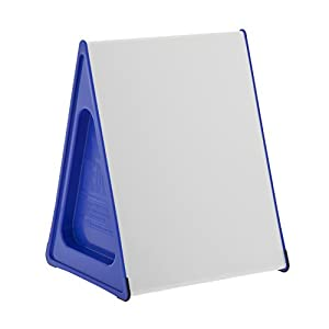 The Wedge A3 Wedge Dry Wipe Magnetic Double Sided Whiteboard (Blue)