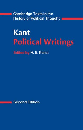 Kant: Political Writings 2nd Edition Paperback (Cambridge Texts in the History of Political Thought)