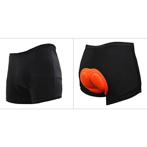 【安心のゲルパッド付き/男性 用】サイクリング インナー パンツ メッシュ ゲルパッド 乗馬 自転車 メンズ (5. L (黒×オレンジ))