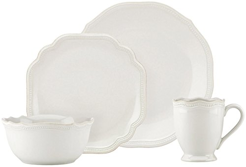 Lenox 4-Piece French Perle Bead Dinner Set, White