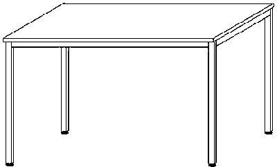 Geramöbel 15859601 Schreibtisch, Holz, ahorn, 60 x 82 x 73 cm