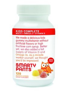 SmartyPants Children's All-in-One Multivitamin Plus Omega-3 Plus Vitamin D, 120 COUNT (Pack of 2) (Child Omega 3 compare prices)
