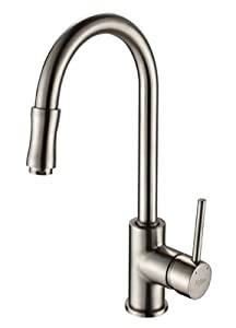 Kraus Kpf 1622sn Single Lever Pull Out Kitchen Faucet