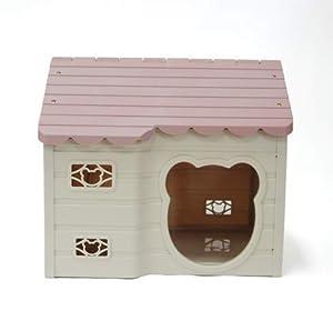 Alpha Dog Series Medium-Sized Indoor Plastic Doghouse (Pink) (Color: Pink)