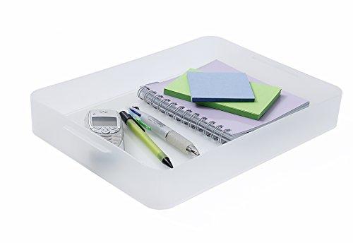Sundis 1429700096 Box Bure aus Kunststoff (PP), perfektes Ordnungssytem für Büro, Küche, Bad und mehr, Format A4, circa 32.2 x 23 x 4.6 cm (LxBxH), transparent