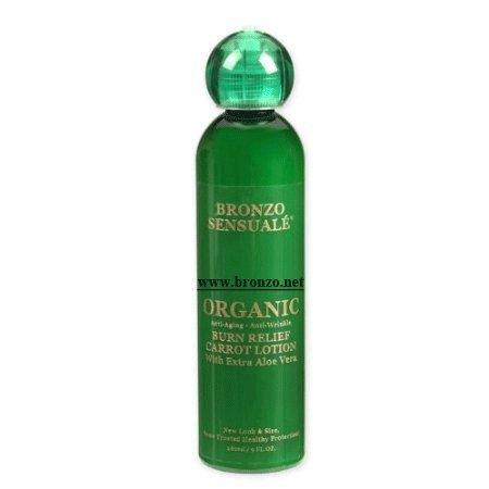 Bronzo Sensuale Con Áloe Certificada Organica Crema De Zanahoria Contra Las Quemaduras (8.5 Oz)
