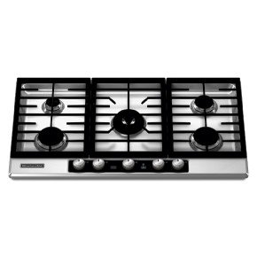 KitchenAid Architect Series II : KFGU766VSS 36 Gas Cooktop with 5 Sealed Burners