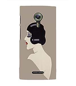 EPICCASE Seductive Lady Mobile Back Case Cover For Alcatel One Touch Flash 2 (Designer Case)