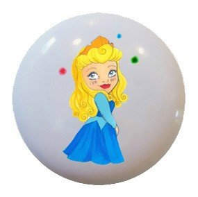 Disney Sleeping Beauty Princess Aurora Ceramic Knobs Nursery Pulls Kitchen 1123