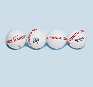 Range Golf Balls with Stripe (Pack of 12) by S&S Worldwide