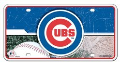 Chicago Cubs Car Truck SUV Home Office Room Wall License Plate Tag
