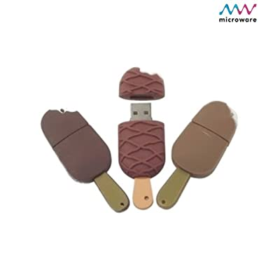 Microware 8GB Ice-cream Candy Shape USB 2.0 Flash Drive (Brown)