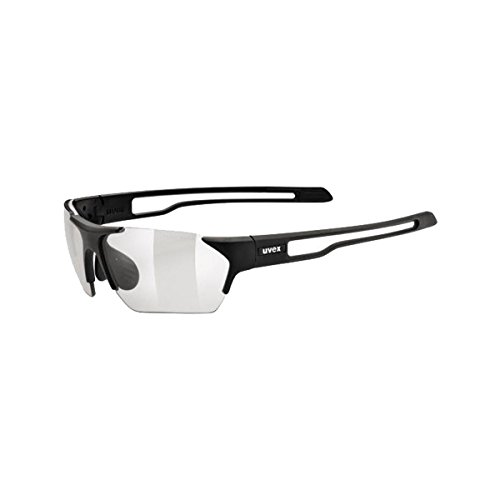 Uvex Sportstyle 202 Small Variomatic Sunglasses Black Matte, One Size - Men's
