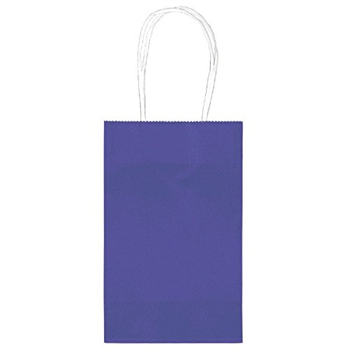 "Amscan Bright Birthday Party Cub Bag Value Pack, 8-1/2 x 5-1/4 x 3-1/2"", Purple"
