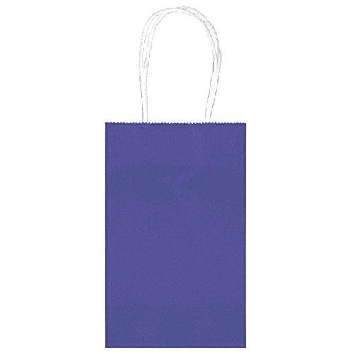 "Amscan Bright Birthday Party Cub Bag Value Pack, 8-1/2 x 5-1/4 x 3-1/2"", Purple"