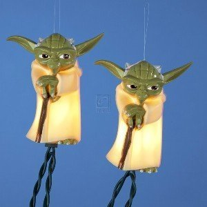 Kurt Adler SW9101 Star Wars Clone War Light Set, Yoda, 10 Light