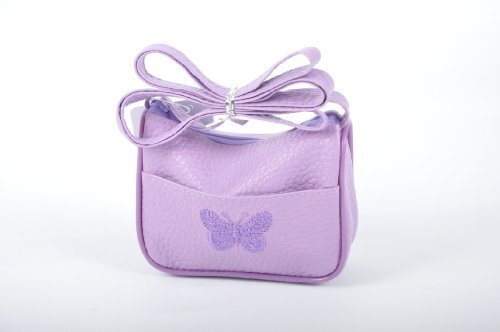 Style Nuvo Small Cute Girls, Toddlers Butterfly Embroidered Handbag Purse