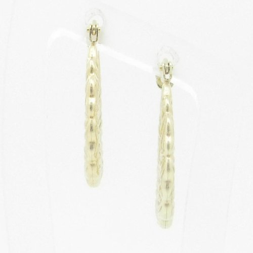 Ladies 10K gold and .925 Italian Sterling Silver earrings fancy stud hoop huggie ball fashion dangle swag HE25