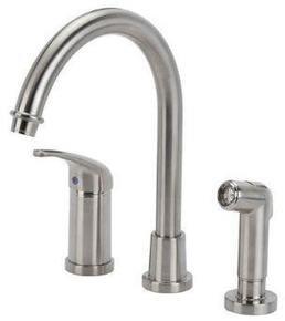 Glacier Bay Builders Single Handle Hi Arc Kitchen Faucet In Brushed Nickel
