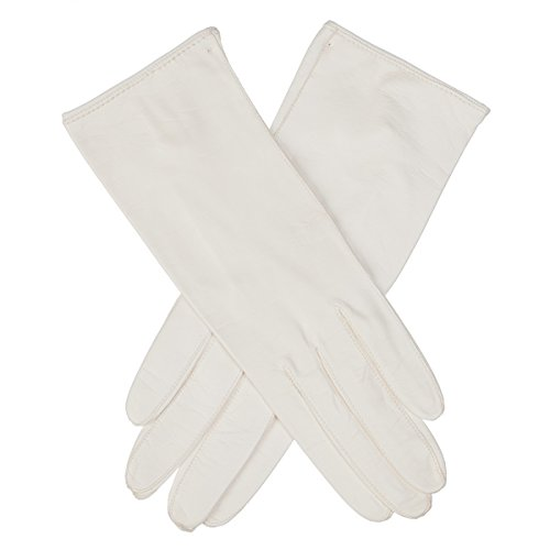 Lundorf Royal Womens Unlined White Leather Dress Gloves - Type A - size 8