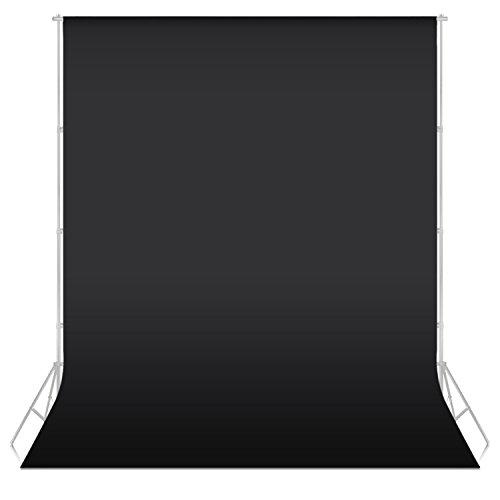 Neewer® 5.25piedi x 10.5piedi/1.6x3.2M Fondale in tessuto non tessuto per Studio Ritratti Fotografia Video (di colore Nero)