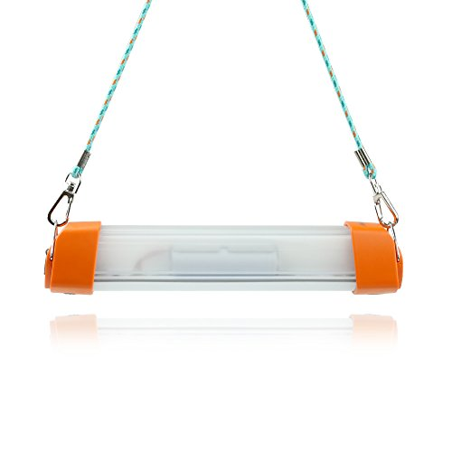 Camping light,LuminTecko indoor outdoor bright LED lantern built-in rechargeable battery (Orange)