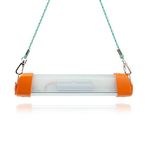 LuminTecko-Luz Camping Linterna de luz LED Recargable Portable Waterproof Portable Waterproof LED Camping Lamp Tube Light (naranja)