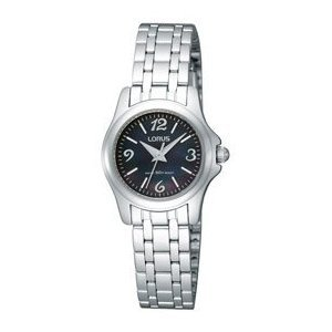 Lorus Ladies Stainless Steel Watch Black Dial RRS15RX9