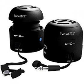 Grandmax Tweakers Mini-Boom Speakers For Ipod/Mp3 Players & Laptops - Black
