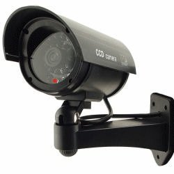 UniquExceptional UDC4black - Outdoor Fake , Dummy Security Camera with Blinking Light (Black)