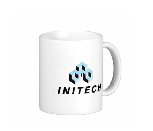 Pair Of Initech 15 Ounce Coffee Mugs - Custom Coffee / Tea Cups - Dishwasher And Microwave Safe