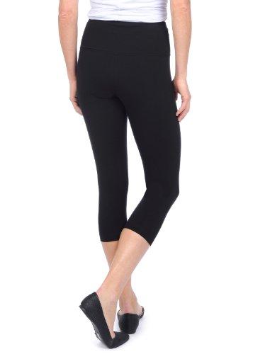 Lysse Spandex Capri Legging Fitness Yoga Pants (S) (Black)