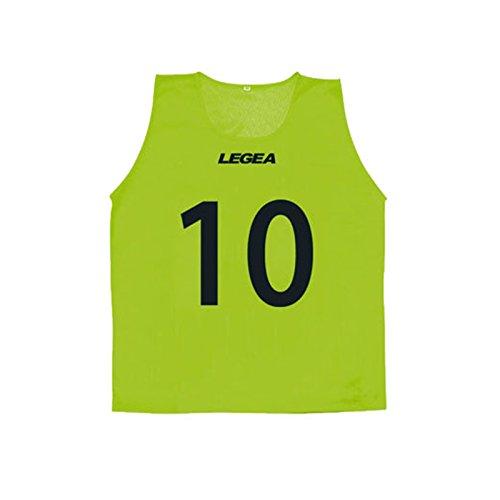 LEGEA CASACCA NUMERATA PROMO 2-11 TRAINING QUANTITA' MINIMA 10 PEZZI TORNEO SPORT PEGASHOP (VERDE FLUO, S/M)