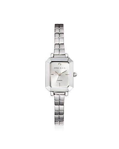 Anne Klein Women's Genuine Diamond Steel Watch, Silver/Silver