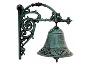 Wall Bell - Cast Iron Antique Green Wall Bell from Brilliant Wall Art