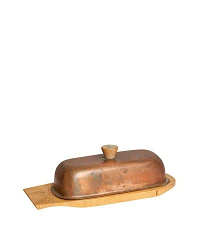 Mili Designs Brass Butter Dish, Gold