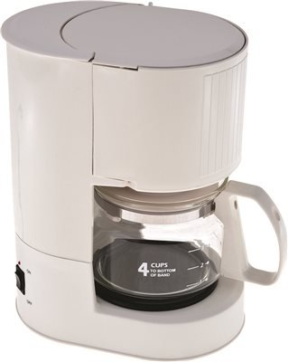 NATIONAL BRAND ALTERNATIVE SMALL APPLIANCES 632603 4 Cup Coffee Maker, Ash
