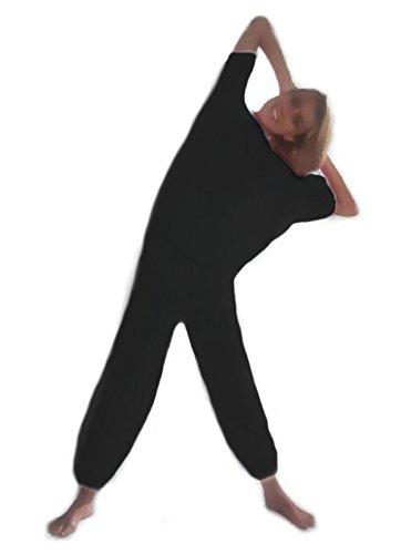Vetrina del Benessere SAUNAANZUG -Schwarz, Größe 1 (Deutschland 36-38)- Schwitzanzug aus PVC, Schweiß Anzug mit Sauna Effekt (Bluse und Hosen) - UNISEX