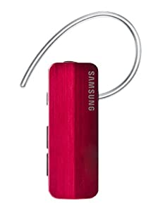 Samsung HM1700 Bluetooth Headset with Noise reduction and Echo cancellation, supports Music streaming (Magenta)