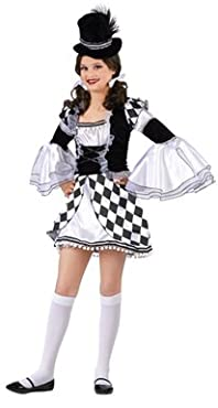 Girls Pierrot the Clown Outfit