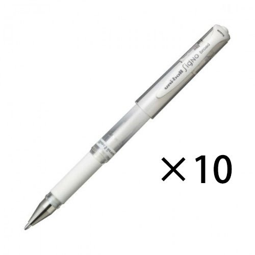 Uni Ball Signo Um-153 Gel Impact Pen Open Stock, White, 10 Pens Per Pack